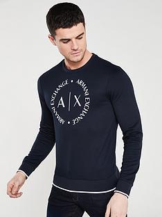 armani-exchange-chest-print-sweatshirt-navy
