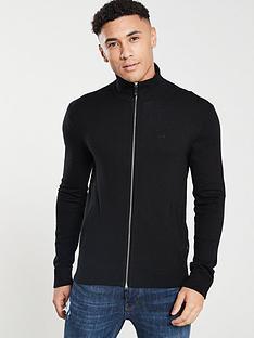 armani-exchange-zip-cardigan-black
