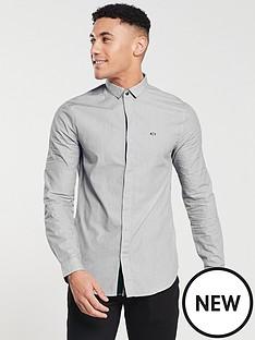 armani-exchange-long-sleeved-shirt-whitenavy