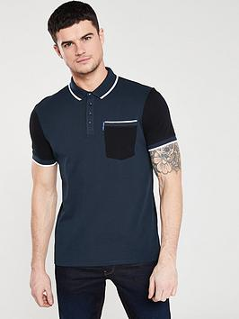 armani-exchange-colour-block-polo-shirt-navyblack