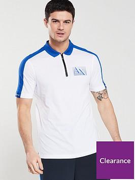 armani-exchange-zip-neck-polo-shirt-whitemarine