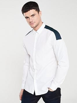 armani-exchange-shoulder-panel-long-sleeved-shirt-white