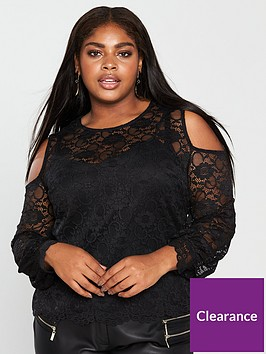 v-by-very-curve-lace-cold-shoulder-top-black