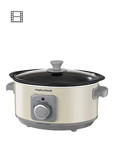 morphy-richards-evoke-35-litre-manual-slow-cooker-cream