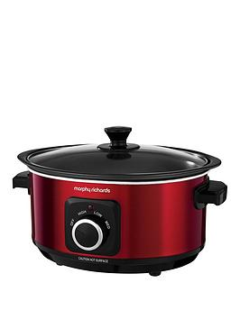 morphy-richards-evoke-35-litre-manual-slow-cooker-red
