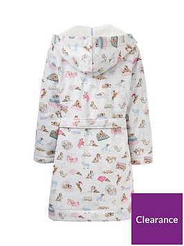 59a0b237cc ... Joules Idlewhile Fleece Lined Jersey Dressing Gown - Grey. View larger