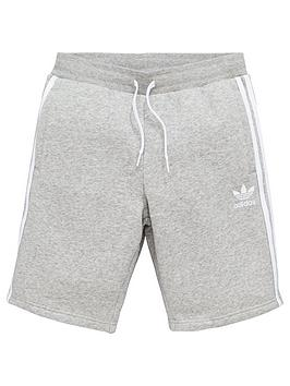 adidas-originals-boys-fleece-short-grey