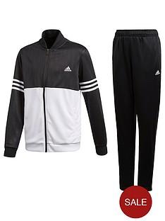 adidas-boys-ts-tracksuit-blackwhite
