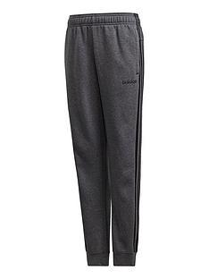 adidas-boys-3-stripe-pants-dark-grey-heather