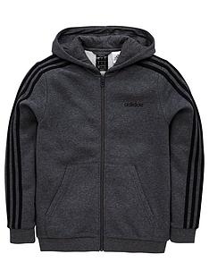 adidas-boys-3-stripe-zip-throughnbsphoodienbsp--dark-grey-heather