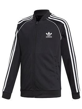 adidas Originals Adidas Originals Childrens Superstar Zip Front Top - Black Picture