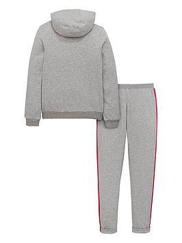 2736008d7bfa adidas Girls Hooded Fleece Tracksuit
