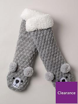 boux-avenue-pom-pom-bear-calf-sock