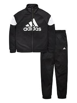 Adidas   Boys Badge Of Sport Tracksuit - Black