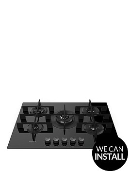 whirlpool-w-collectionnbspgow7553nb-73cmnbspwide-gas-hob-with-optional-installation-black-glass