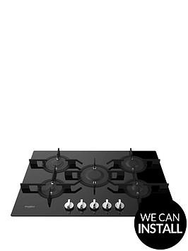 whirlpool-pow75d2nb-64cmnbspgas-hob-with-optional-installation-black-glass