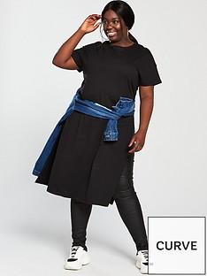 v-by-very-curve-step-hem-t-shirt-black