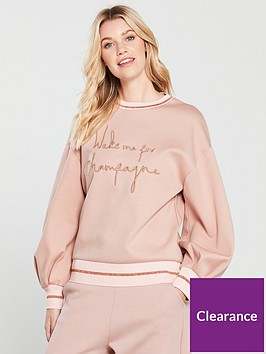 ted-baker-ted-baker-ted-says-relax-champagne-logo-full-sleeve-sweat-top