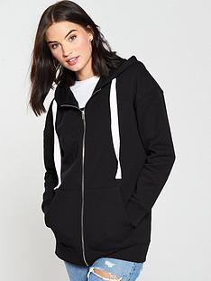 v-by-very-basic-long-line-zip-through-hoody