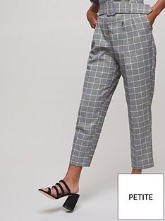 miss-selfridge-petite-check-paperbag-trouser-multi