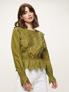 miss-selfridge-cutwork-broderienbspanglaise-blouse-khakinbsp