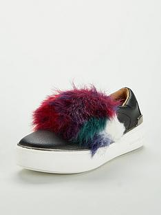 michael-kors-girls-faux-fur-slip-on-trainer