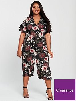 faeac9d74ee AX PARIS CURVE Floral Print Culotte Jumpsuit - Multi