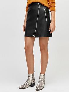 warehouse-punbspbiker-skirt-blacknbsp