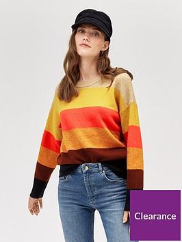 warehouse-bold-stripe-cosy-crew-jumper