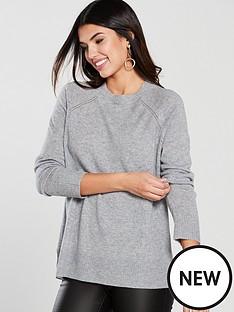 warehouse-cashmere-jumper-pale-grey