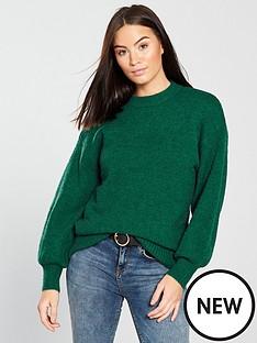warehouse-premium-wool-blend-jumper-green