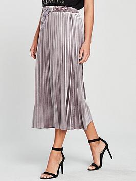 v-by-very-velvet-pleated-skirt-purple