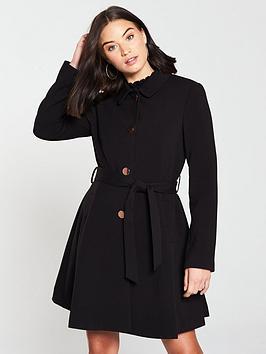 oasis-cherry-lightweight-princess-coat-black