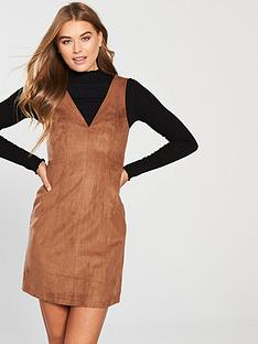 oasis-suedette-shift-dress-tannbsp