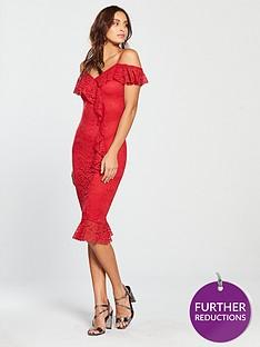 ax-paris-lace-frill-midi-dress-red