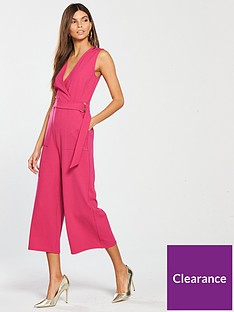 bfd836c835 V by Very Wrap Culotte Jumpsuit - Pink