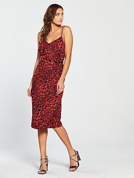 girls-on-film-strappynbsptie-waist-midi-dress-red-leopard-print