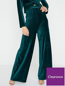 girls-on-film-stretch-mini-cord-high-waisted-wide-leg-trouser-emerald-green