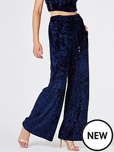 girls-on-film-crushed-velvet-drawstring-wide-leg-trouser-navynbspbr-br