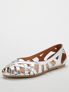 v-by-very-melissa-leather-peep-toe-weave-ballerina