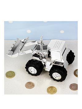 Very Personalised Digger Money Box Picture