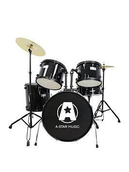 Rocket Rocket Rocket 5 Piece Rock Drum Kit In Black With Free Online Music  ... Picture