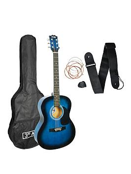 3rd Avenue  3Rd Avenue 3Rd Avenue Acoustic Guitar Pack - Blueburst With Free Online Music Lessons