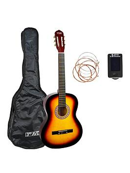 3rd Avenue  3Rd Avenue 3Rd Avenue 3/4 Size Classical Guitar Pack - Sunburst With Free Online Music Lessons