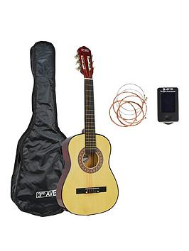 3rd Avenue  3Rd Avenue 1/2 Size Classical Guitar Pack - Natural With Free Online Music Lessons