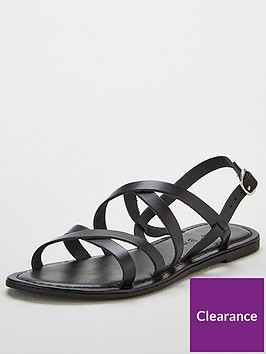 v-by-very-hannah-strappy-leather-flat-sandals-black