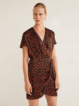 mango-mini-wrap-over-leopard-print-dress-brown