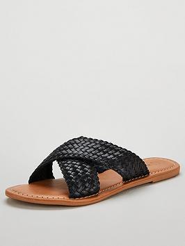 v-by-very-heidi-leather-cross-strap-sandal-black