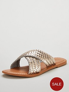 v-by-very-heidi-leather-cross-strap-sandal-gold-metallic
