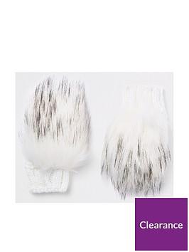 river-island-girls-cream-faux-fur-mittens